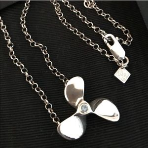 ~Silver~ 925 Nauti⚓️Girl Propeller Necklace